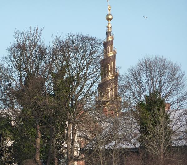 Det gyldne tårn i vinterkulden