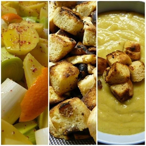 Suppe med sambuca-croutoner